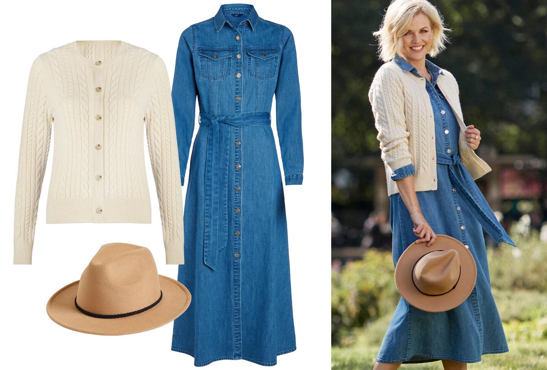 Prairie Denim Midi Dress