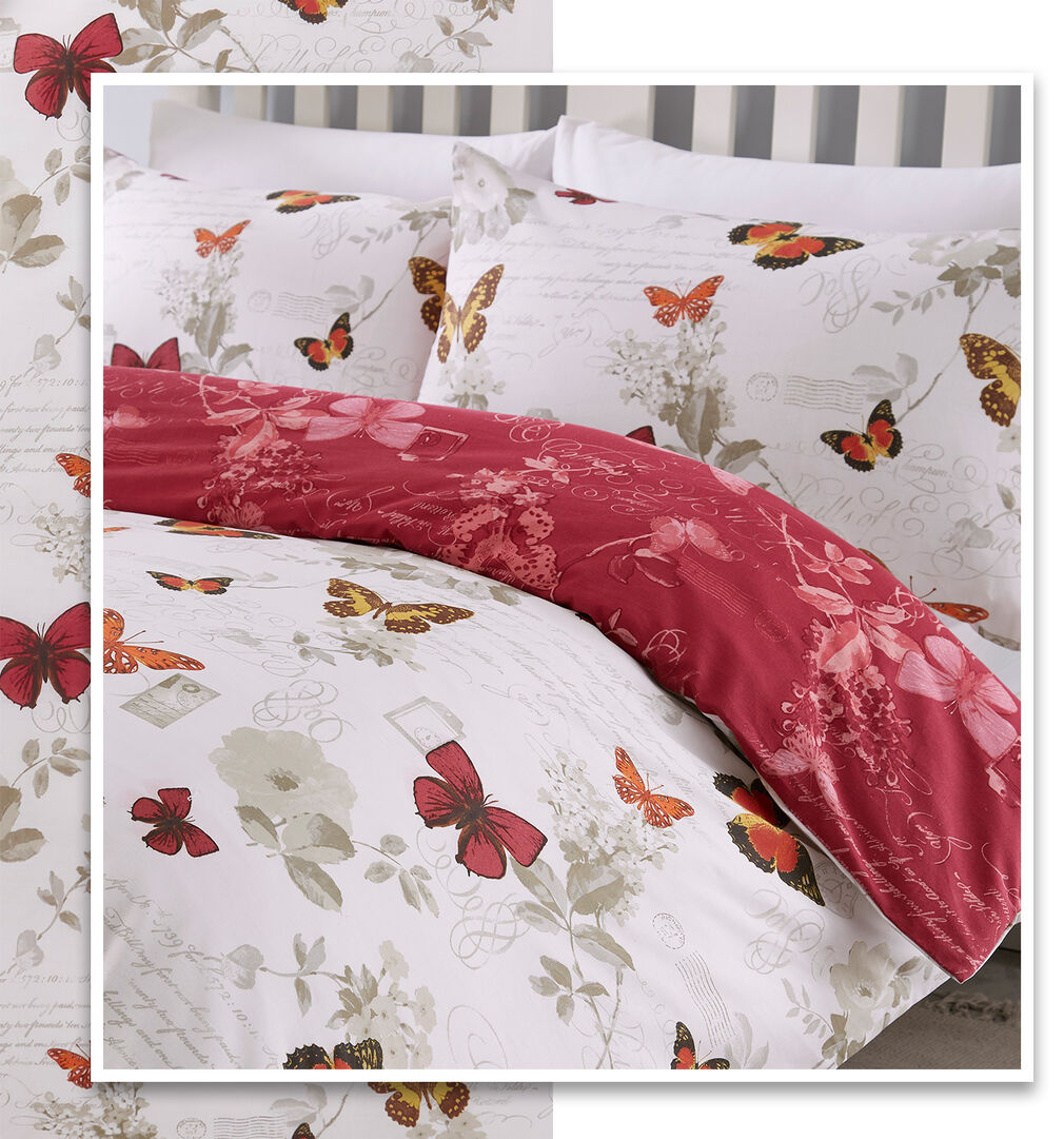 Inspirations New In Home | Inspirations New In Home | Butterfly Script Duvet Set | By Cotton Traders