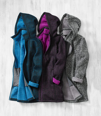 Ready For The Season   Bonded Fleece Jacket   By Cotton Traders