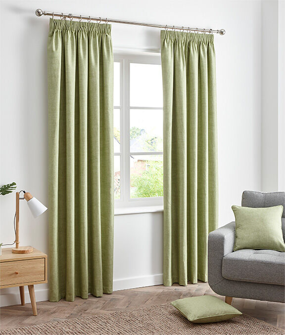 New In Home | Essence Blackout Pencil Pleat Curtains | By Cotton Traders