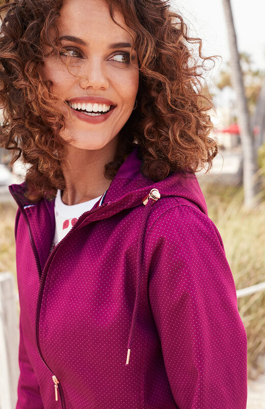 Lighter Jackets | Showerproof Spot Print Parka | By Cotton Traders