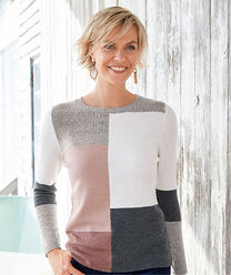 Inspire Me | The Colourblock Jumper | Colourblock Patchwork Jumper | By Cotton Traders