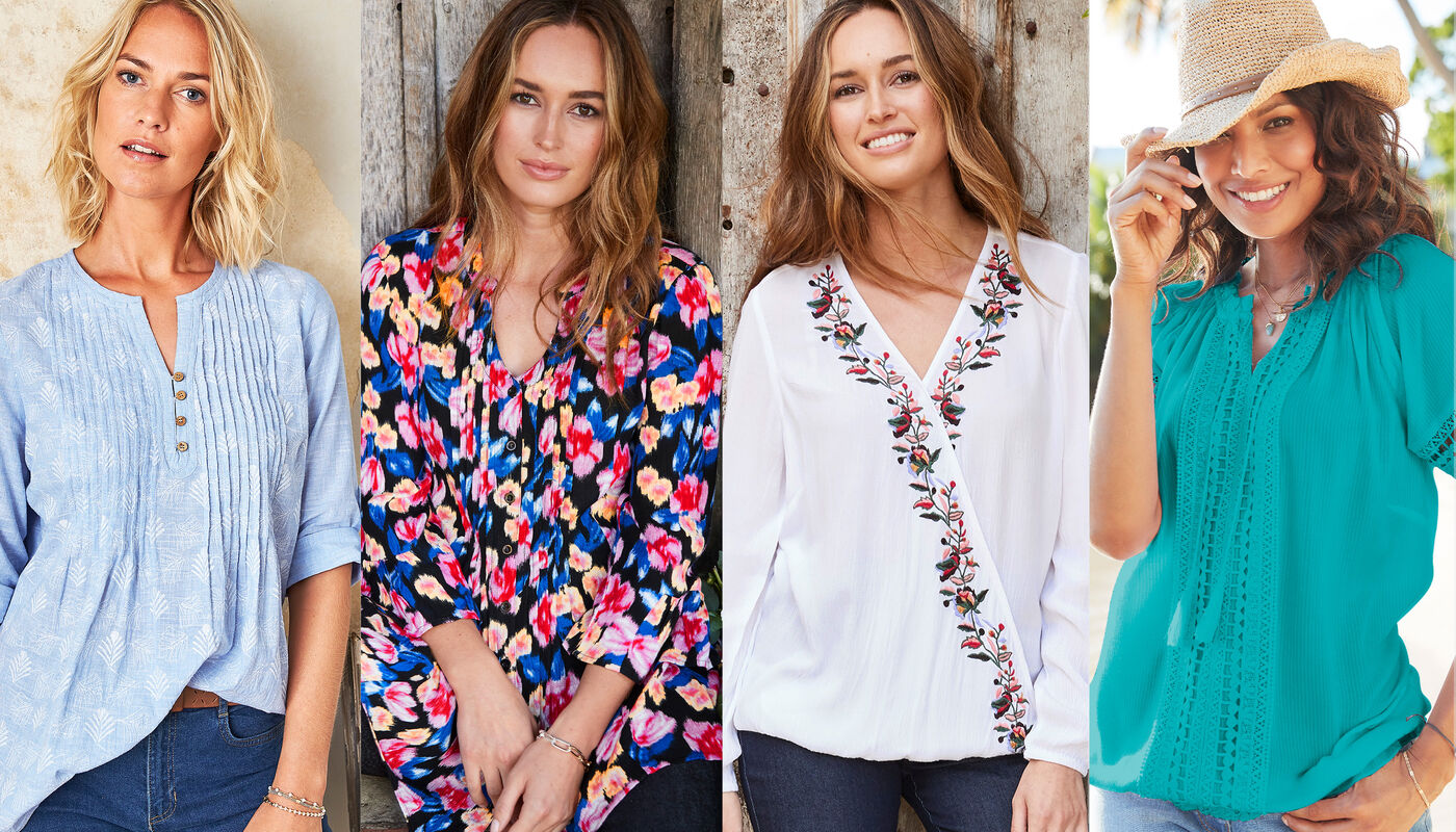 Colourful Spring Tops | By Cotton Traders