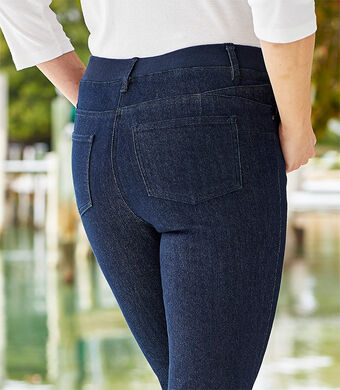 Ready For The Season | Magic Comfort Straight Leg Jeans | Denim | By Cotton Traders