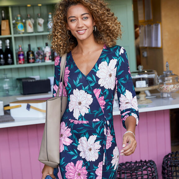 The Chelsea Frill Midi Dress | By Cotton Traders