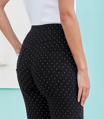 Our Top Trousers | Super Stretchy Jacquard Pull-on Trousers | By Cotton Traders