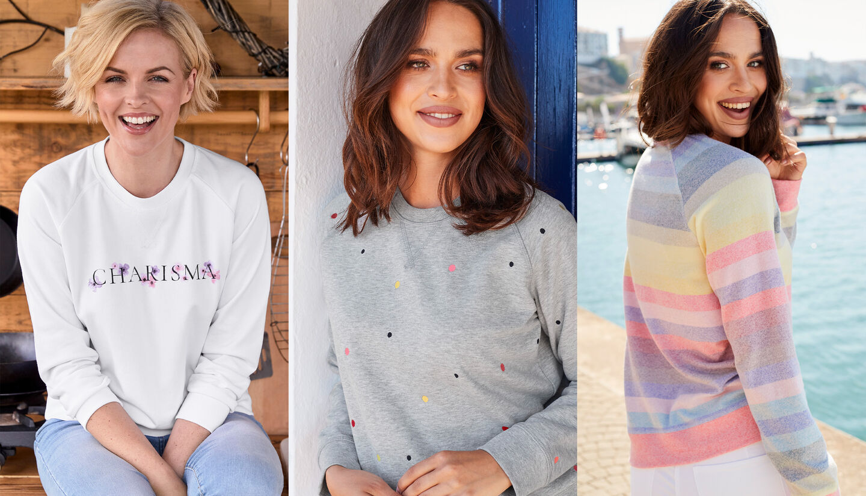 The Charisma Jumper   Charisma Crew Neck Sweatshirt   By Cotton Traders