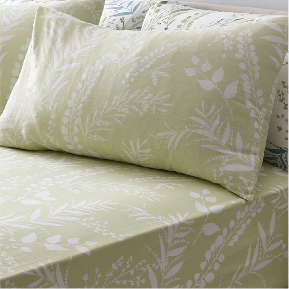 Fernworth Cotton Sheet and Pillowcase Set