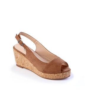 Slingback Wedge Sandals