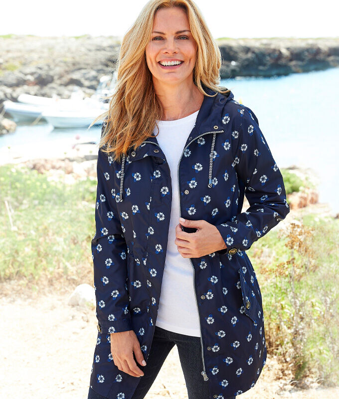 Great Outdoors | Showerproof Printed Jacket | By Cotton Traders