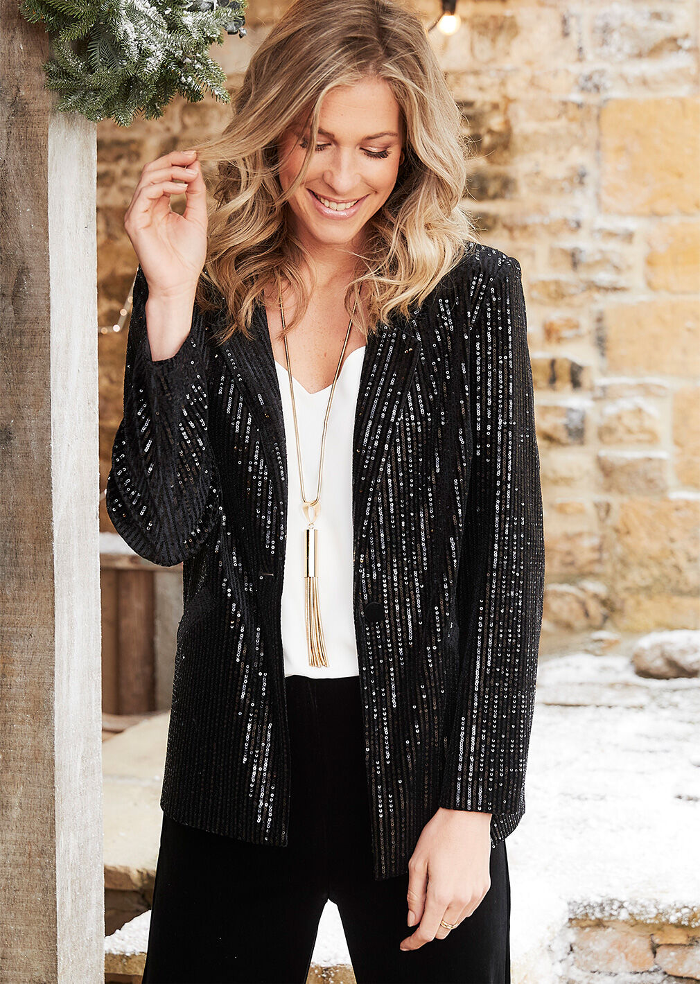 Partywear | Sequin Jacket | By Cotton Traders
