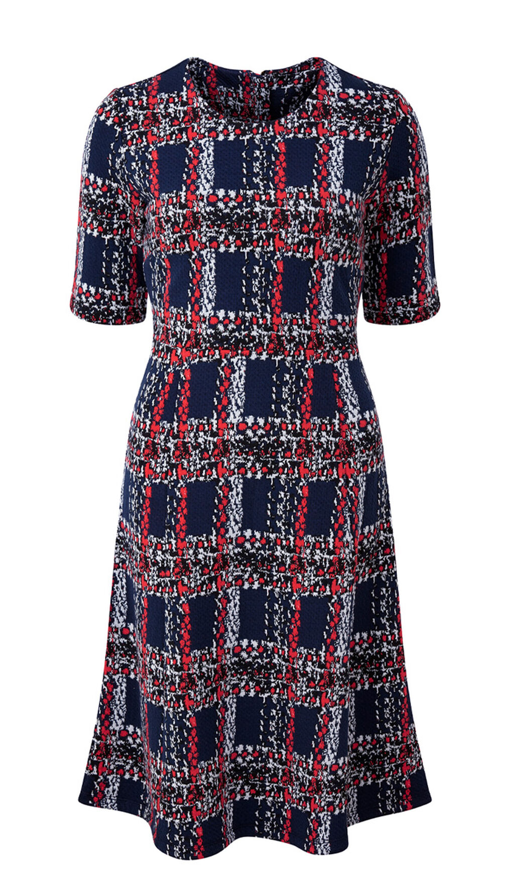 The Feelgood Coat   Textured Check Dress   By Cotton Traders