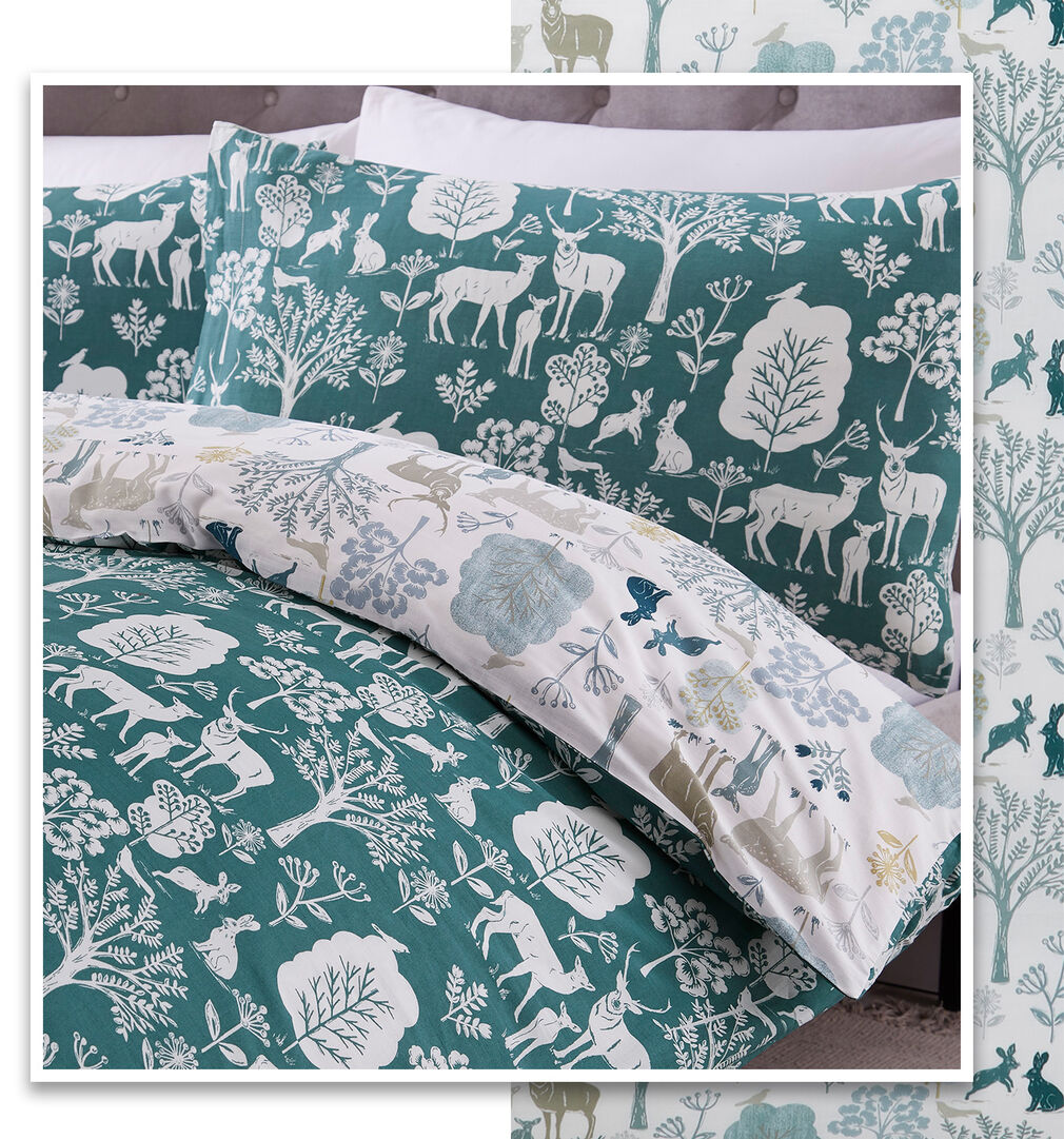 Inspirations New In Home | Woodland Scene Duvet Set | By Cotton Traders