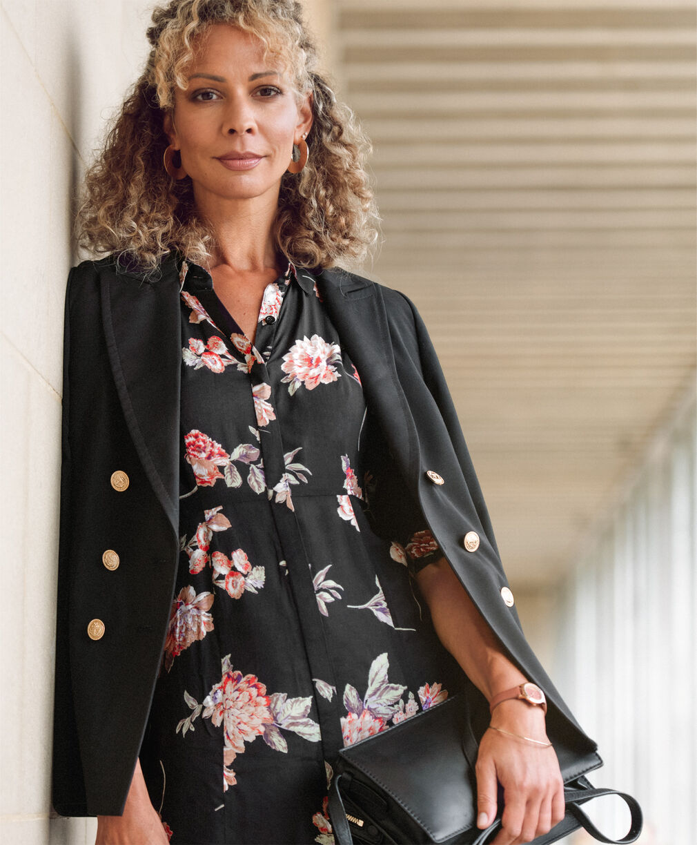 The Frockstar Dress | The Friday Blazer | Frockstar Button-through Dress | By Cotton Traders