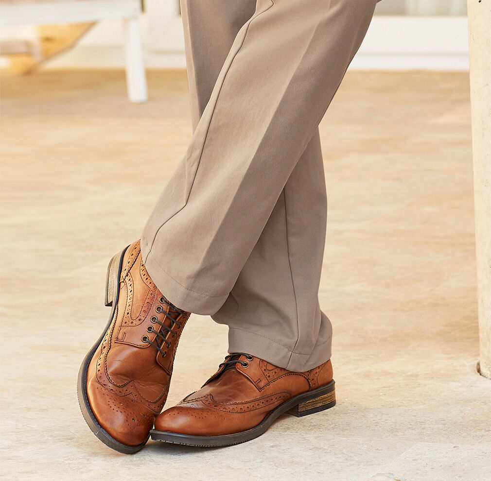 Autumn Footwear | Men's Footwear | Leather Brogues | By Cotton Traders