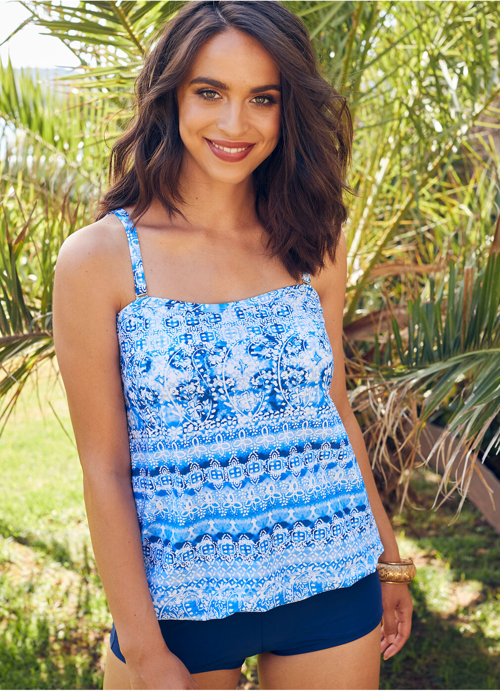 Holidays at Home | Blouson Tankini Top | By Cotton Traders