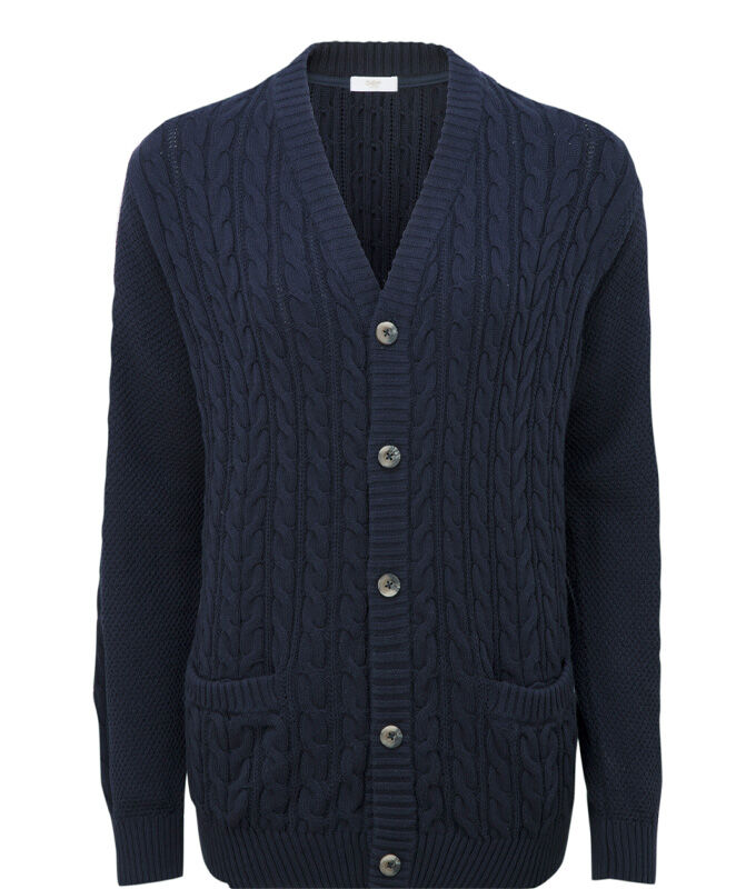 Knitwear Inspirations | Cotton Cable Button Through Cardigan | By Cotton Traders