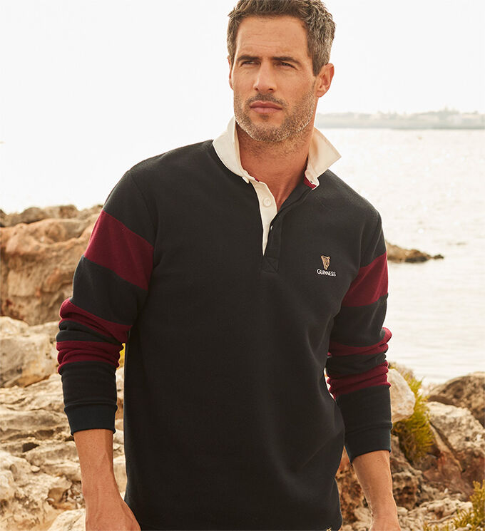 The Guinness Collection | Guinness® Fleece Rugby Shirt | By Cotton Traders