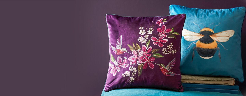 Hummingbird Cushion | Bee Cushion