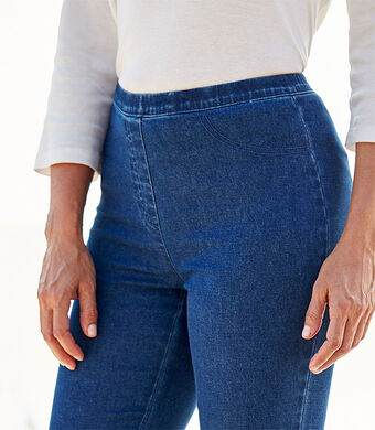 Our Top Trousers | Slim Straight Leg Jeggings | By Cotton Traders