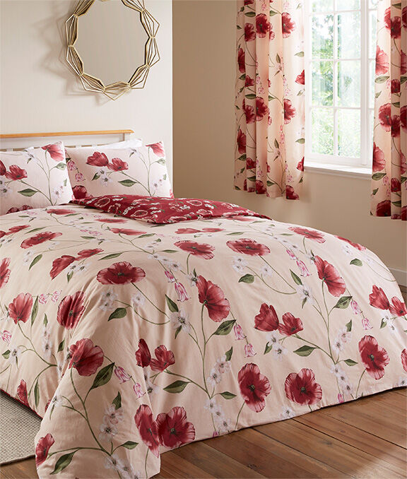 New In Home | Poppy Bloom Duvet Set | By Cotton Traders