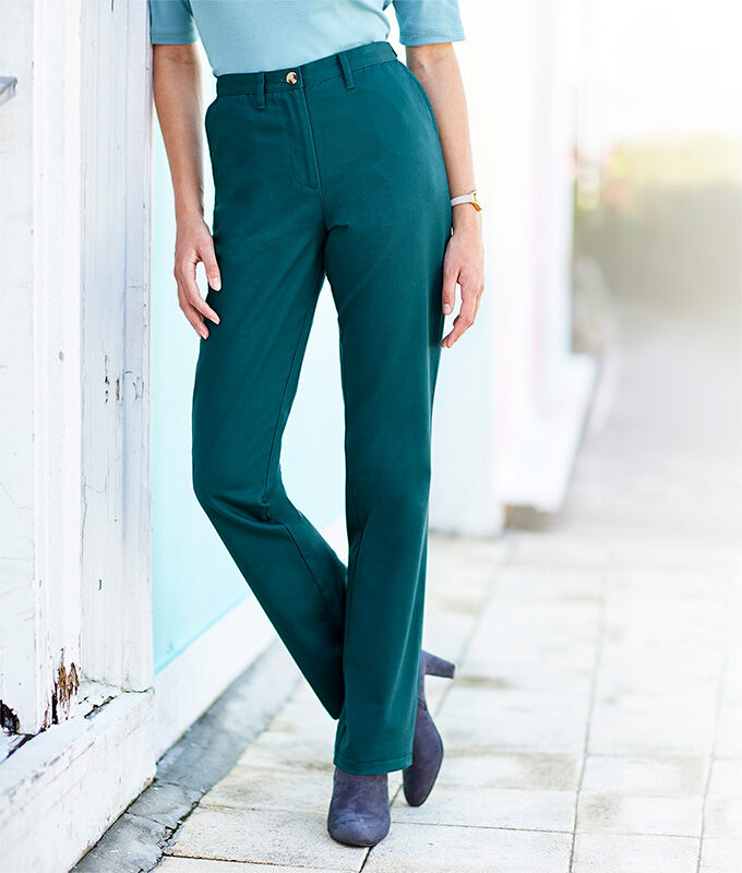Our Top Trousers | Wrinkle Free Adjustable Waist Trousers | By Cotton Traders