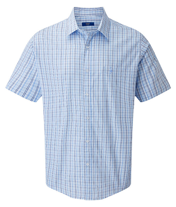 The Charismatic Goose | Short Sleeve Easy Iron Taylor Shirt | By Cotton Traders
