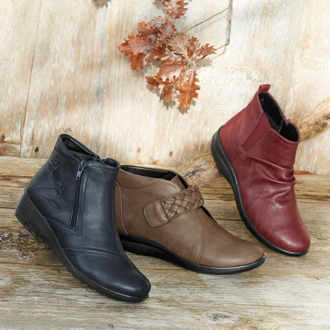 Inspire Me | Autumn Footwear | Flexisole Collection | Flexisole Flower Detail Boots | Flexisole Plaited Strap Boots | Flexisole Slouch Boots | By Cotton Traders
