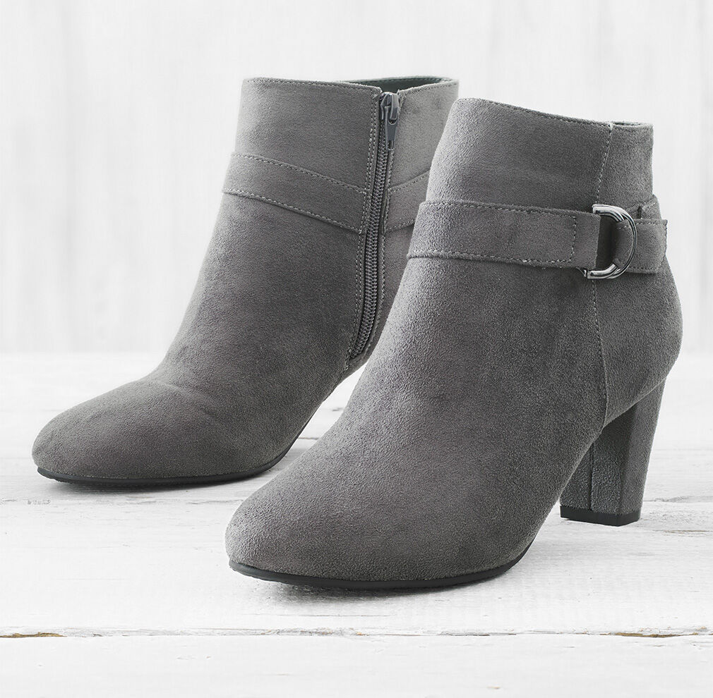 City Chic   Comfort Heeled Boots   By Cotton Traders