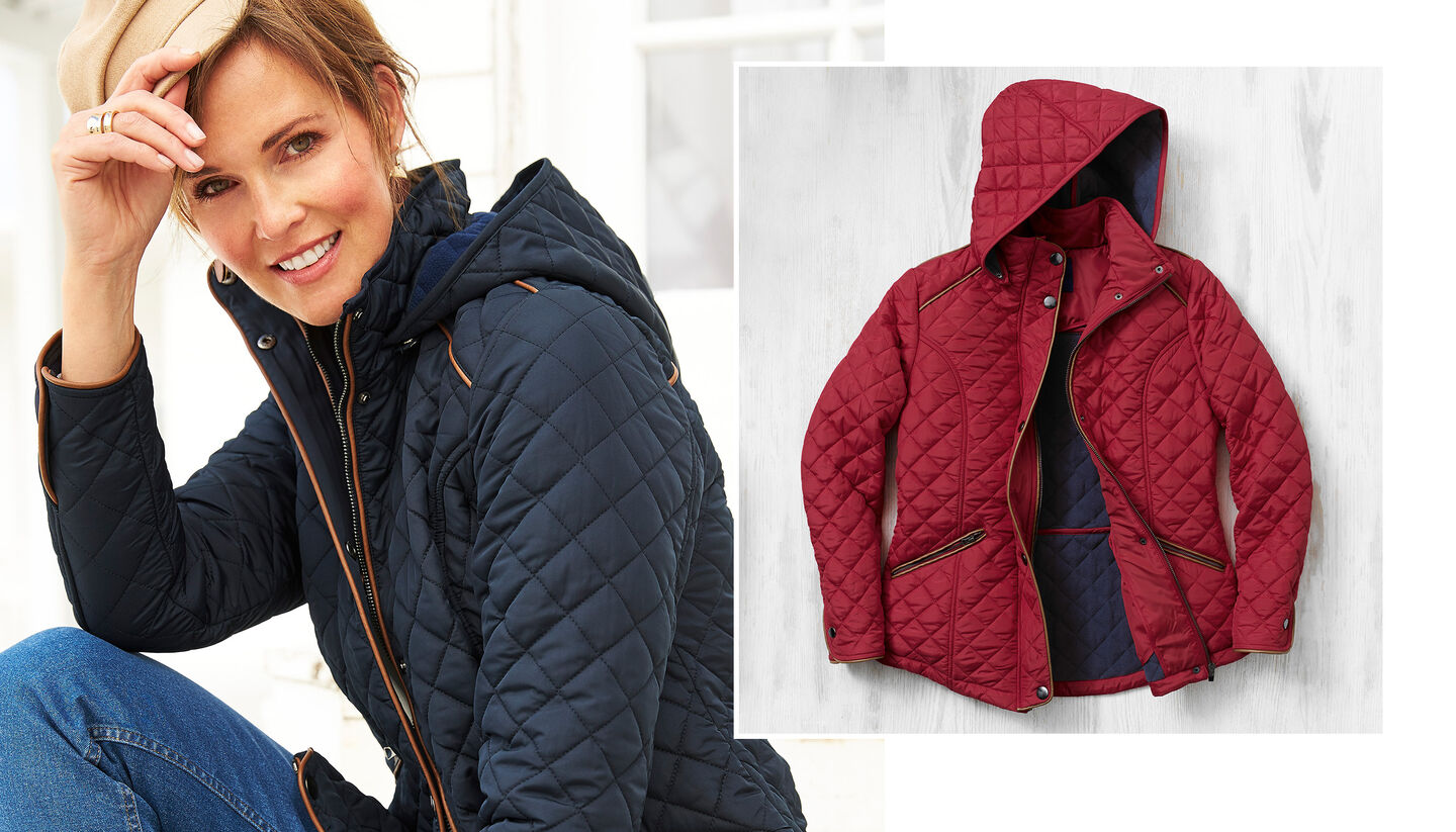 Lighter Jackets | Fleece Lined Quilted Jacket | By Cotton Traders