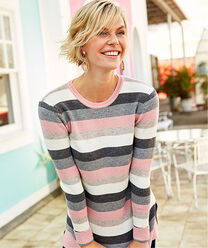 Inspire Me | Ready For The Season | Knitted Stripe Tunic | By Cotton Traders