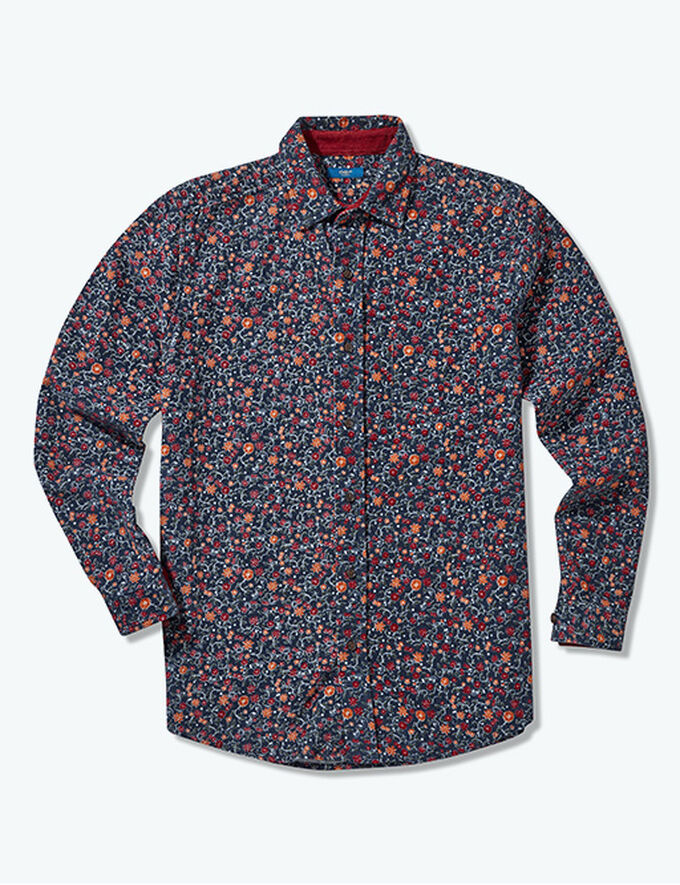 Inspirational Transitional Styles | Long Sleeve Printed Cord Shirt | By Cotton Traders