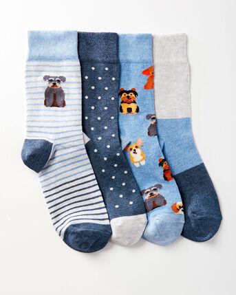 4 Pack Comfort Top Dog Socks