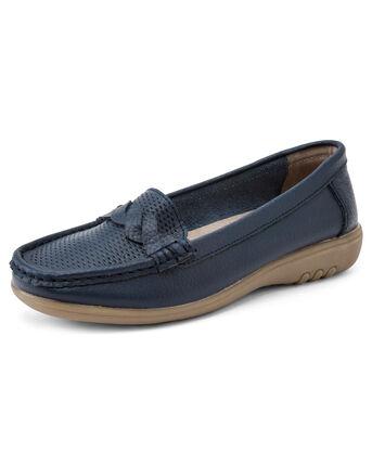 Leather Flexisole Twist Loafers