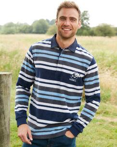Guinness™ Long Sleeve Stripe Fleece Rugby Shirt