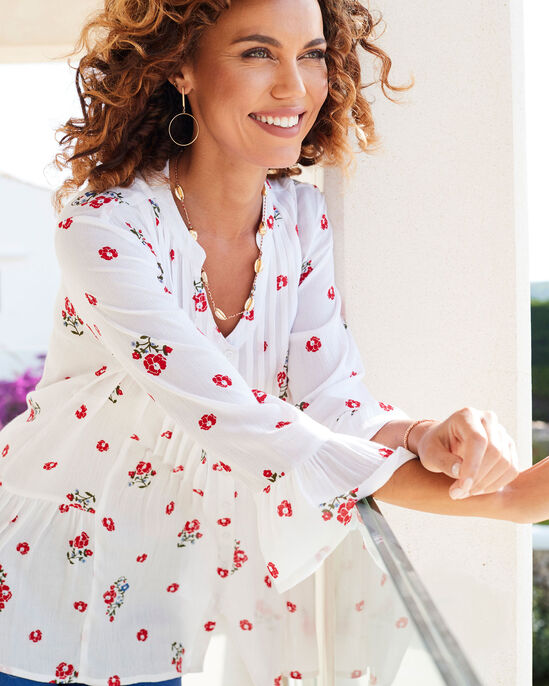 Crinkle Floral Tunic