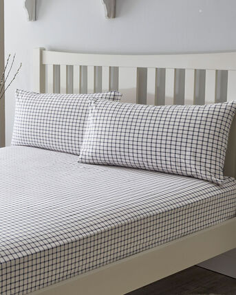 Wilson Brushed Cotton Fitted Sheet and Pillowcase Set