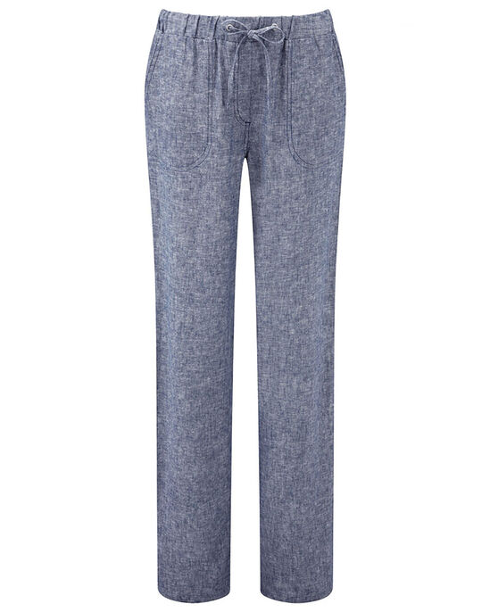 Linen-blend Pull-on Trousers