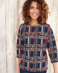 Textured Check Top