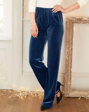Irresistible Velour Straight Leg Trousers