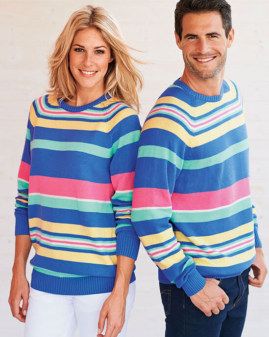 Cotton Crew Neck Stripe Jumper