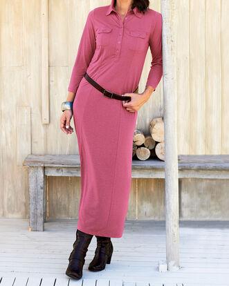 Jersey Shirt Maxi Dress