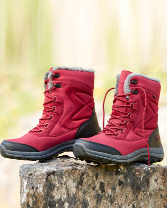 Waterproof Lace-up Snow Boots