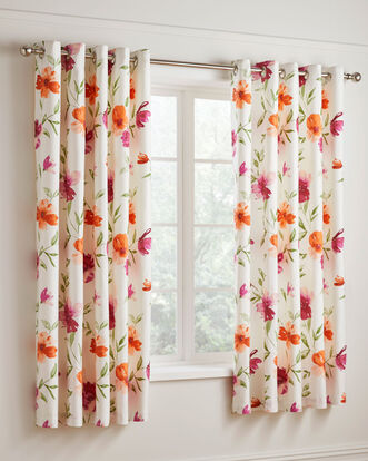 Pippa Eyelet Curtains 66x72""
