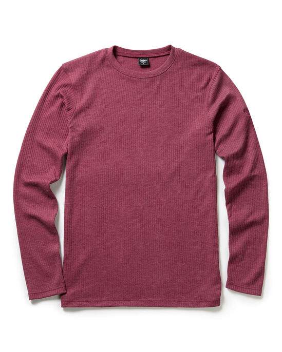 Long Sleeve Marl Crew Neck Top
