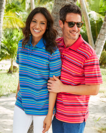 Short Sleeve Stripe Polo Shirt