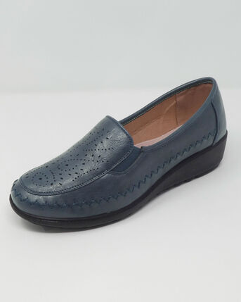 Flexisole Slip-on Punch Detail Shoes