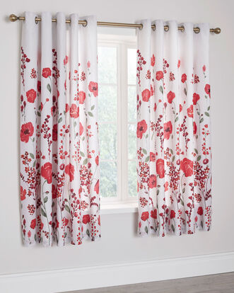 Poppy Trail Eyelet Curtains 66X72""