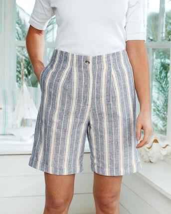 Cotton Linen-Blend Shorts
