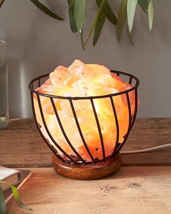 Himalayan Rock Salt Basket Lamp